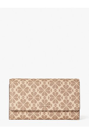 Kate Spade Spade Flower Coated Canvas Chain Clutch, Natural Multi
