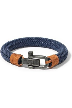 Men Bracelets - Men's Recycled Blue Cotton Waimea Bracelet Panareha