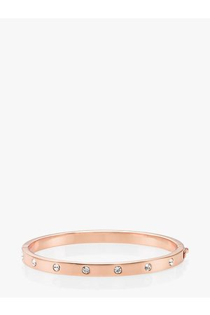 Kate Spade Set In Stone Hinged Bangle, Clear/Rose
