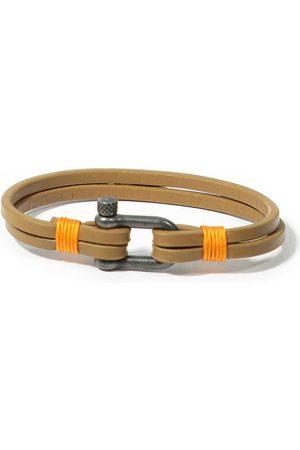 Panareha Men Bracelets - Teahupo'o Leather Bracelet in orange