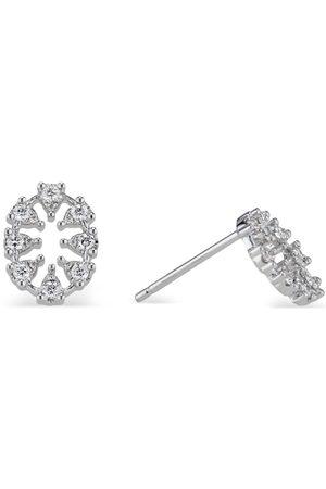 Women's Artisanal White Reve Oval Diamond Earrings Small Ri Noor