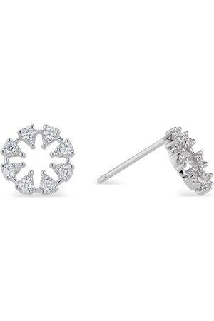 Women's Artisanal White Reve Round Earrings Small Ri Noor