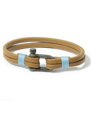 Panareha Teahupo'o Leather Bracelet in Blue