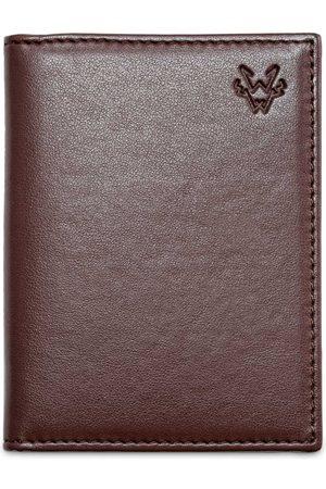 Men Wallets - Men's Vegan Brown Leather Folding 6 Card Wallet Watson & Wolfe