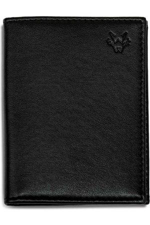 Men Wallets - Men's Vegan Black Leather Folding 6 Card Wallet In Watson & Wolfe