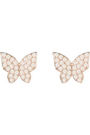 Women Studs - Women's Artisanal Rose Gold Butterfly Stud Earring LATELITA