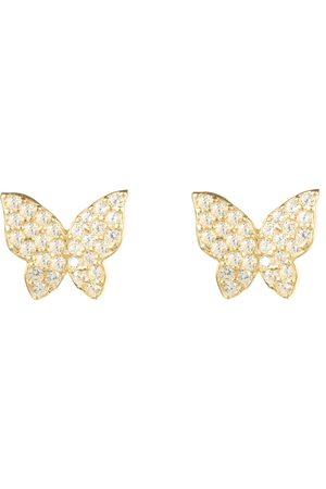 Women's Artisanal Gold Butterfly Stud Earring LATELITA