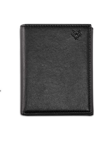 Men's Vegan Black Leather Trifold Wallet In Watson & Wolfe