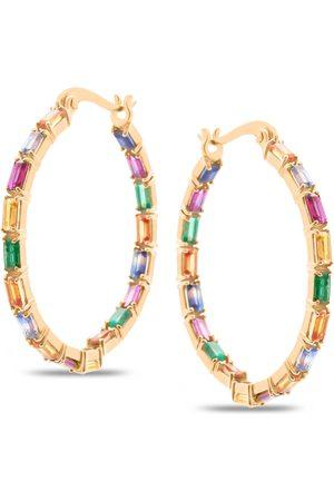 Women Hoop - Women's Low-Impact Rose Gold Multicolor Hoop Round Earring Tresor Collection