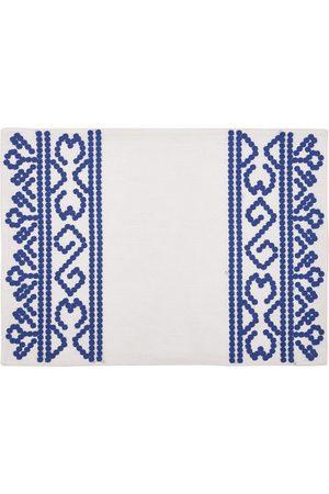 Cabana Hand-Embroidered Linen Placemat - Color: - Material: linen - Moda Operandi