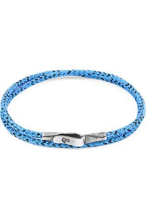 Men Bracelets - Men's Artisanal Blue Noir Liverpool Silver & Rope Bracelet (M) ANCHOR & CREW