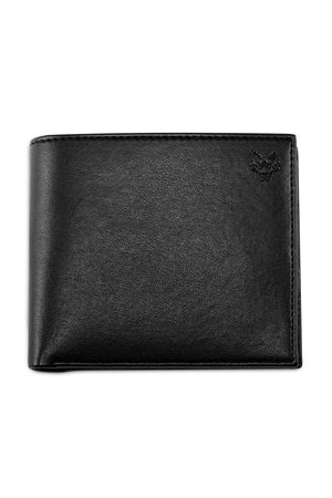 Men's Vegan Black Leather Wallet With Coin Pocket In Watson & Wolfe