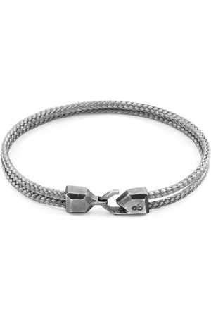 Anchor & Crew Classic Grey Cromer Silver & Rope Bracelet