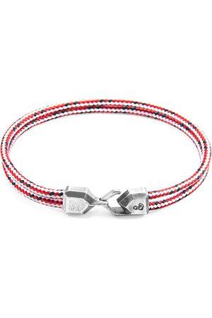 Boys Bracelets - Men's Artisanal Silver Red Dash Cromer & Rope Bracelet (Charity Bracelet End Youth Homelessness) ANCHOR & CREW