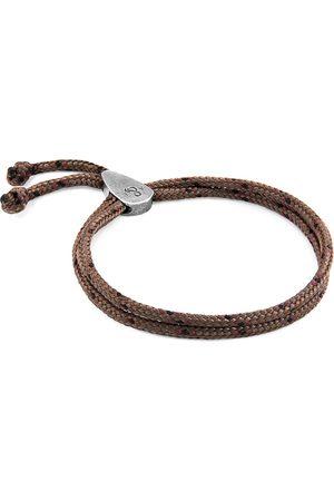 Men Bracelets - Men's Artisanal Silver Brown Pembroke & Rope Bracelet ANCHOR & CREW