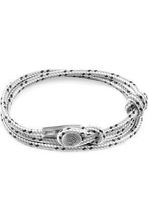 Men's Artisanal Grey Dash Dundee Silver & Rope Bracelet (Charity Bracelet Snow Leopard Trust) ANCHOR & CREW