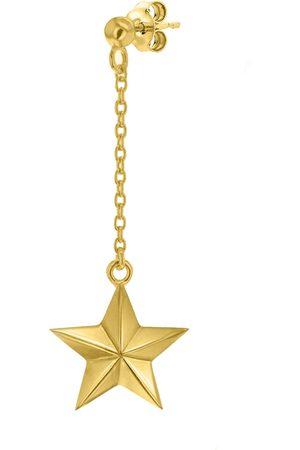 Women's 18ct Gold Plated Star Drop Earring True Rocks