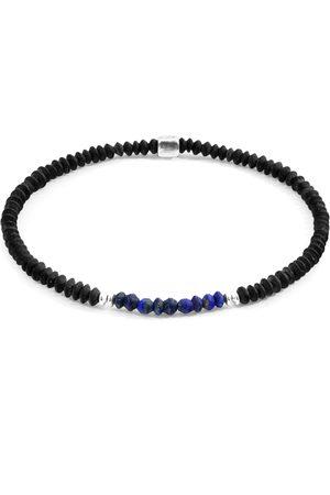 Men Bracelets - Men's Artisanal Lapis Blue Lazuli Paralana Silver & Stone Bracelet ANCHOR & CREW