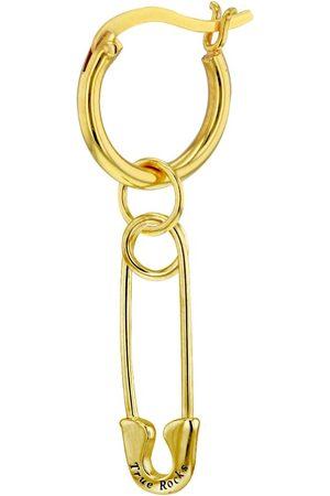 Women Hoop - Women's 18ct Gold Plated Safety Pin On Plated Hoop Earring True Rocks