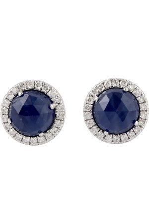 Women Studs - Women's Artisanal White 18Kt Gold Natural Diamond Stud Earring