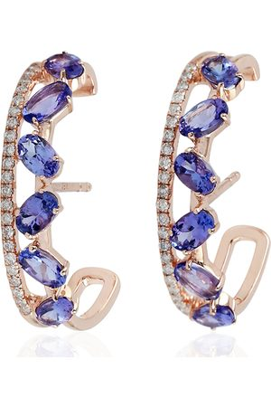 Lee Renee Ladybird Stud Earrings/Wings Open Silver