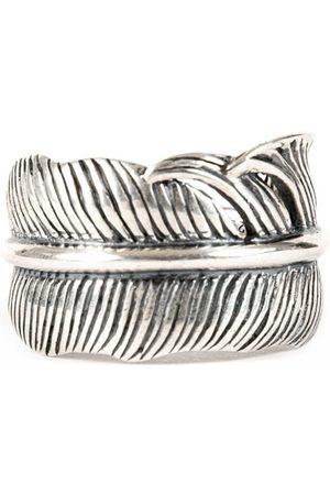 Men Rings - Men's Silver Feather Adjustable Ring Serge DeNimes