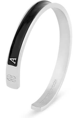 Florence 'A' Men's Initial Cuff - and Silver