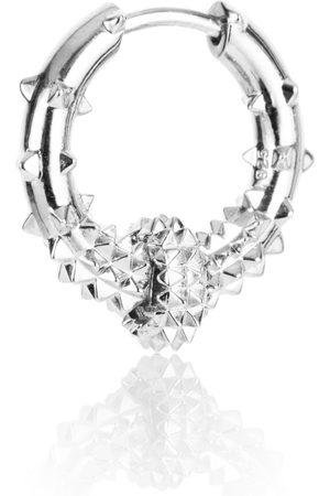 Women Hoop - Women's Silver Rhodium Hoop Earring - Kasun