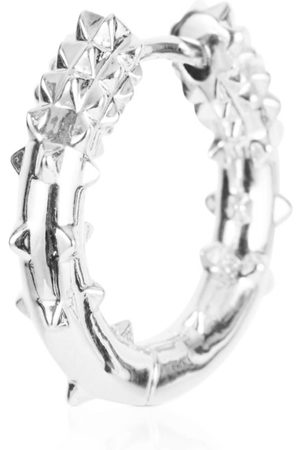 Women Hoop - Women's Silver Rhodium Small Hoop Earring - Kasun