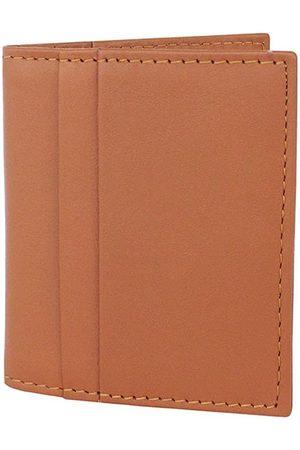Men's Brown Leather Money Clip Wallet - Tan Nappa Dori