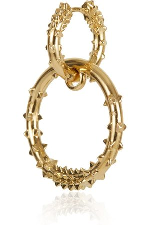 Women Hoop - Women's Gold Double Hoop Earring - Kasun