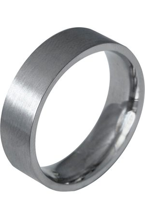 Men's Low-Impact White Gold 9Ct Flat Matt Comfort Fit Ring 6Mm A Heavy Weight Band With A Matte Satin Finish Edge Only