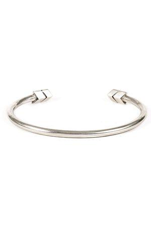 Men Bracelets - Men's Silver Velvet Arrow Bangle Serge DeNimes