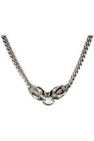 Men Bracelets - Men's Silver Velvet Dragon Necklace Serge DeNimes