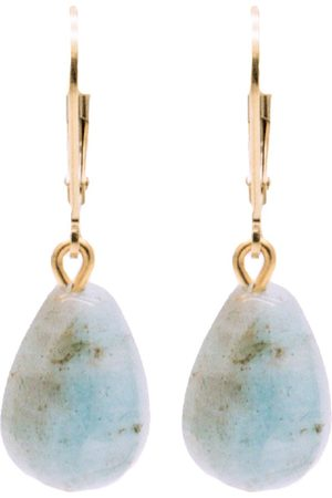 Women's Artisanal Aquamarine Bridal Collection Girl With An Gemstone Pendant Earrings SALOME