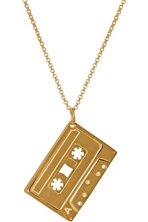Only Men'S Mixed Tape Pendant In A Cassette Tape Necklace With A Heavy Curb Chain