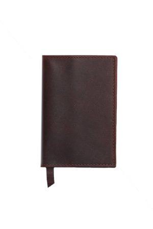 Men Wallets - Men's Brown Leather Classic Dark Passport Cover VIDA VIDA