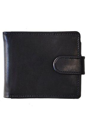 Men Wallets - Men's Black Brass Vida Leather Tri Fold Wallet With Rfid VIDA VIDA