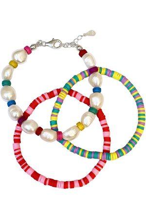 Women Bracelets - Women's Artisanal Rainbow Baroque Bracelet Set M.SAHLBERG jewelry