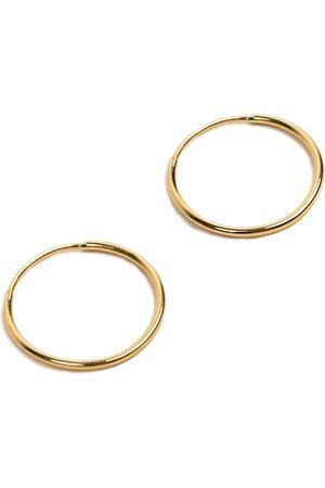 Women Hoop - Women's Gold 14K Endless Hoop Earring - Big Undefined Jewelry