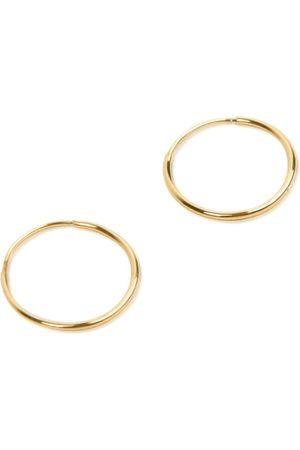 Women Hoop - Women's Gold 14K Endless Hoop Earring - Small Undefined Jewelry