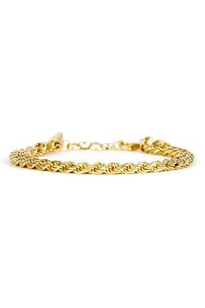 Men's Silver Velvet Gold Plated Rope Bracelet Serge DeNimes