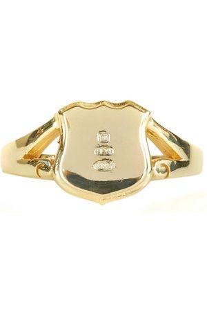 Men's Silver Gold Plated Hallmark Shield Ring Serge DeNimes