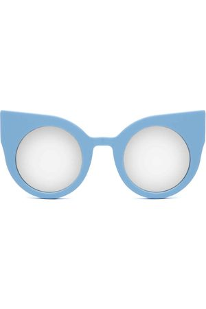 Women's Blue Cotton Curious Baby Frame + Mirrored Lenses Supernormal