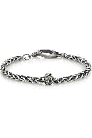 SHERYL LOWE Mr. Lowe Wheat Chain Bracelet With Diamond Rondelle