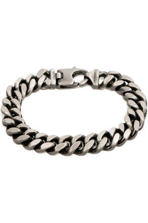 Undefined Jewelry Diamond Cut Rhodium Bracelet 9.2mm