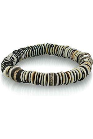SHERYL LOWE Mr. Lowe Vinyl Bracelet W/ Moroccan Trade Beads