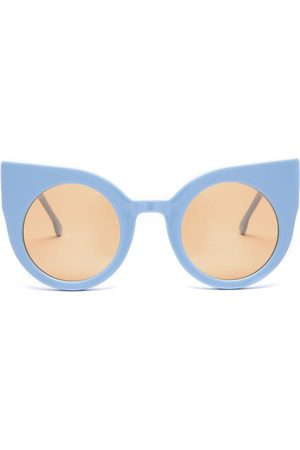 Sunglasses - Women's Amber Cotton Curious Baby Blue Frame + Lenses Supernormal
