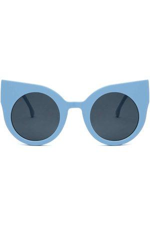 Sunglasses - Women's Grey Cotton Curious Baby Blue Frame + Lenses Supernormal