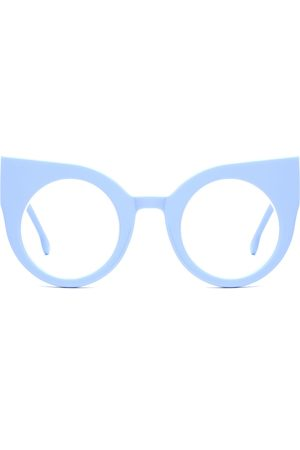 Women's Blue Cotton Curious Baby Computer Glasses Supernormal